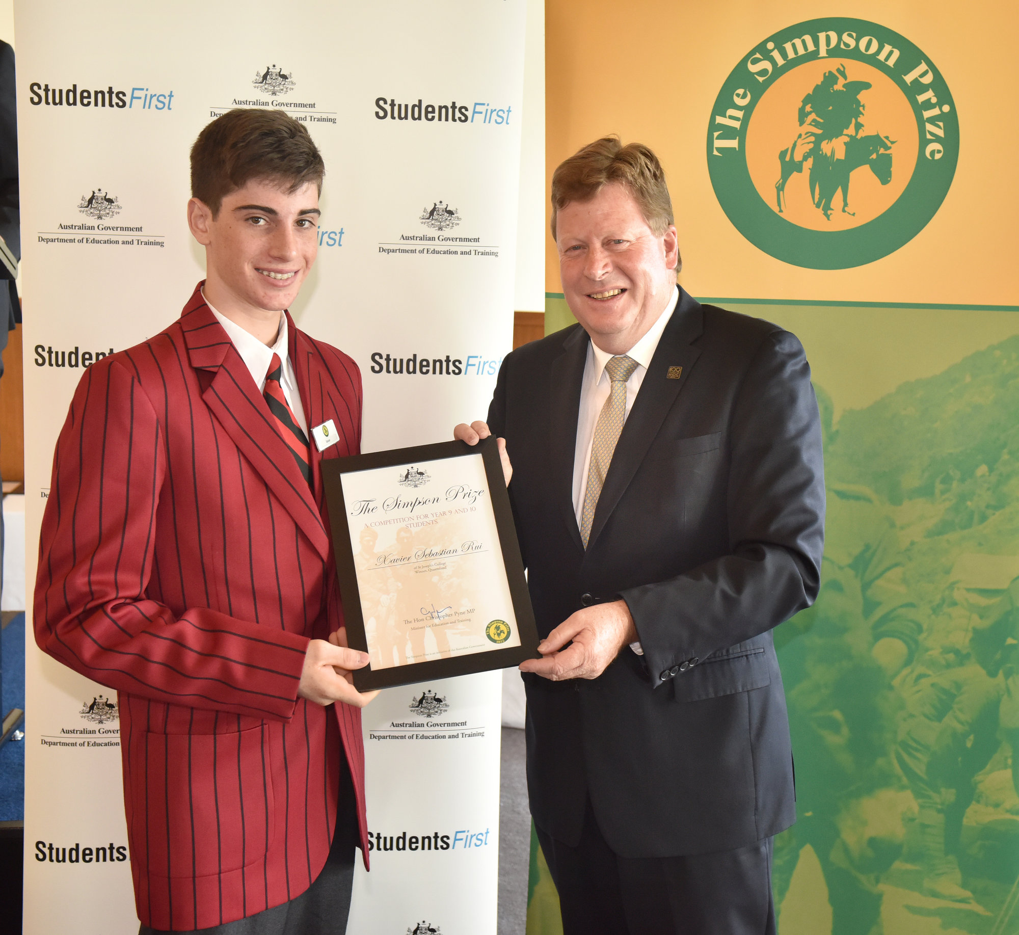 Simpson Prize representatives awards at Parliament House and AWM visit, Canberra, Monday 16th March,  2015. Photo: Mark Graham