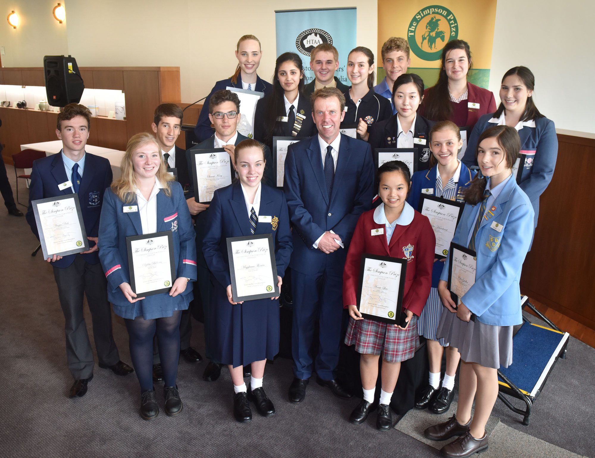 The Simpson Prize morning tea and awards presentation, Parliament House and the Australian War Memorial, Canberra on 15th March, 2016. PHOTO: MARK GRAHAM